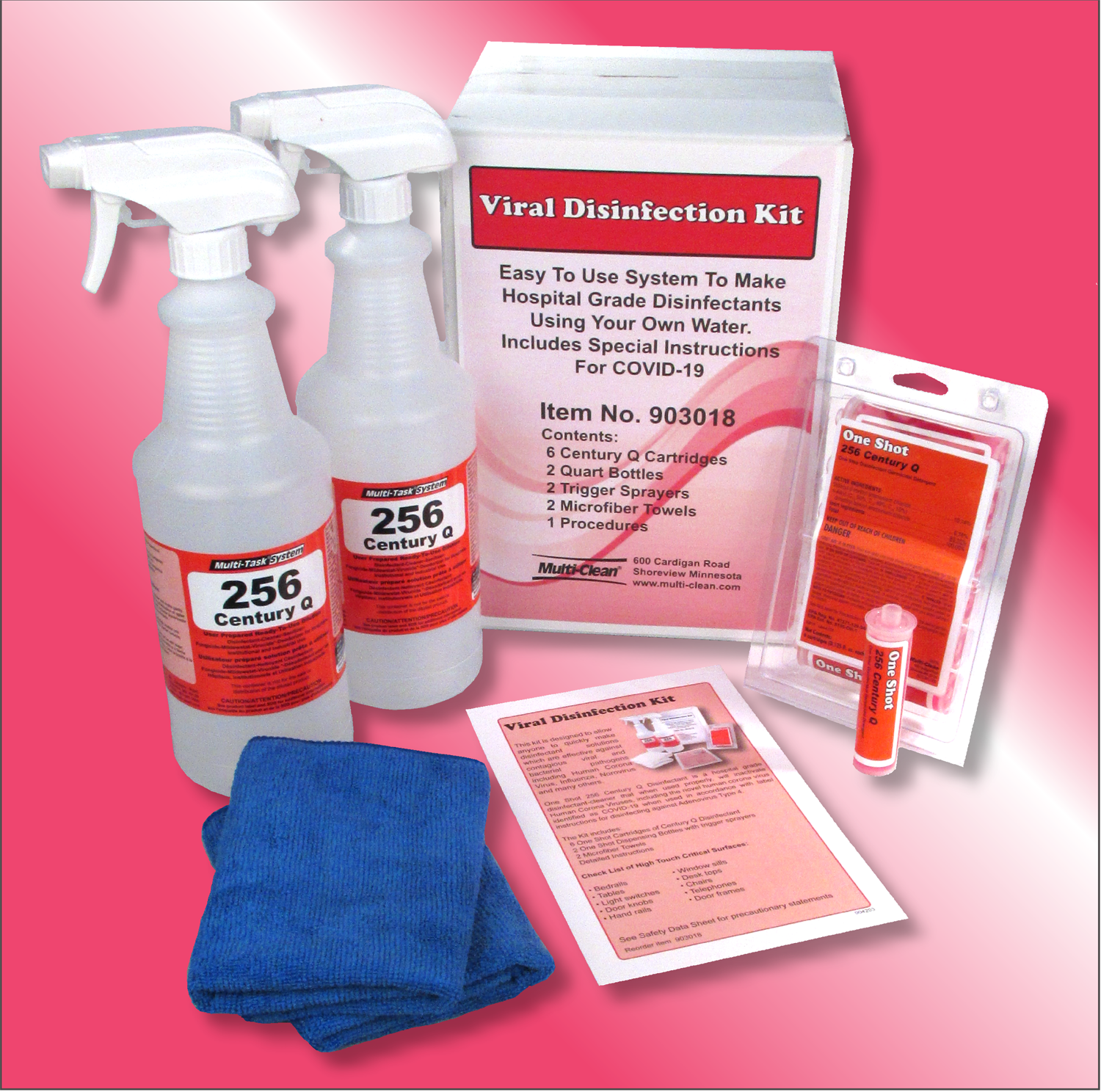 **Discontinued**  We suggest   903020 Multi-Clean Viral